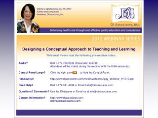 Designing a Conceptual Approach to Teaching and Learning