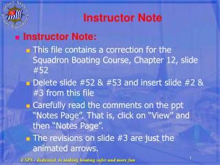 Instructor Note