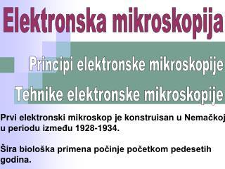 Elektronska mikroskopija