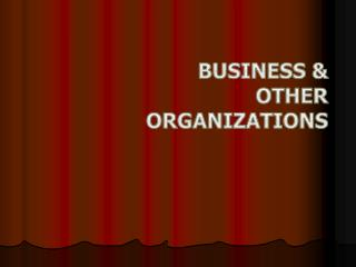Business & Other Organizations
