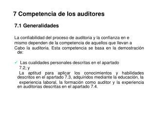 7 Competencia de los auditores