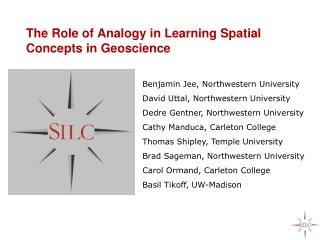 The Role of Analogy in Learning Spatial Concepts in Geoscience