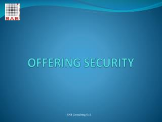 OFFERING SECURITY