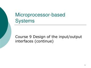 Microprocessor-based Systems