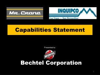 Capabilities Statement