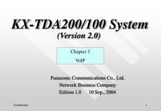 KX-TDA200/100 System (Version 2.0)