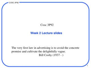 Week 2 Lecture slides