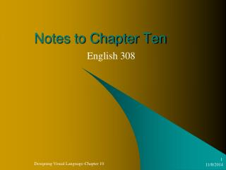 Notes to Chapter Ten