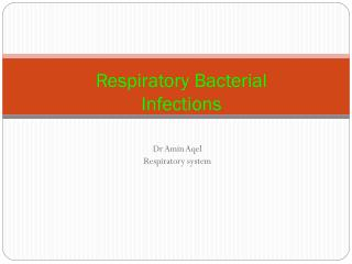 Respiratory Bacterial Infections
