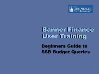 Banner Finance User Training