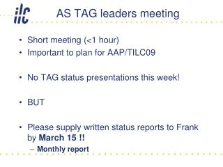AS TAG leaders meeting