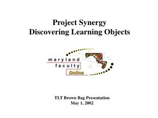 Project Synergy Discovering Learning Objects