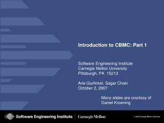 Introduction to CBMC: Part 1