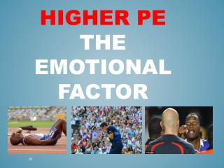 Higher PE  the Emotional Factor