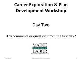Career Exploration & Plan Development Workshop