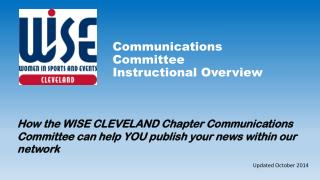Communications Committee Instructional Overview