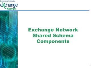 Exchange Network Shared Schema Components