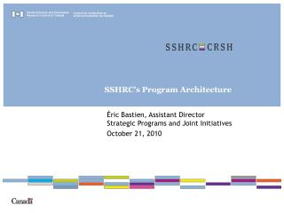 SSHRC�s Program Architecture