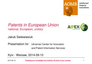 Patents in European Union national, European, unitary