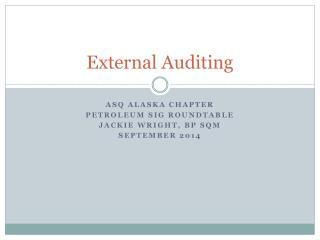 External Auditing