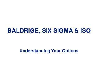 BALDRIGE, SIX SIGMA & ISO