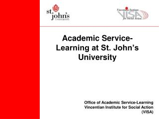 Academic Service-Learning at St. John's University