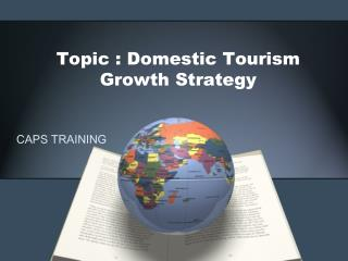 Topic : Domestic Tourism Growth Strategy