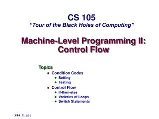 Machine-Level Programming II: Control Flow
