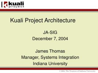 Kuali Project Architecture