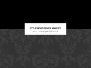 STD  Prevention advert