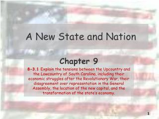 A New State and Nation