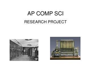 AP COMP SCI