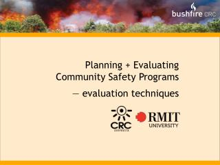 Planning + Evaluating Community Safety Programs — evaluation techniques