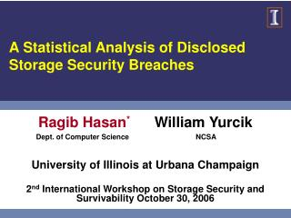 A Statistical Analysis of Disclosed Storage Security Breaches