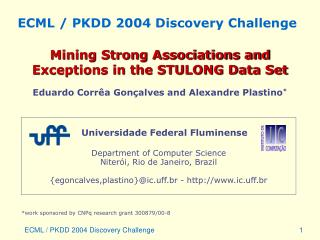 ECML / PKDD 2004 Discovery Challenge
