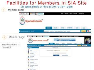 Facilities for Members In SIA Site sitapuraindustriesassociation