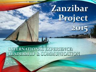 Zanzibar  Project  2015