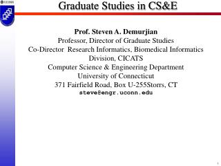Graduate Studies in CS&E