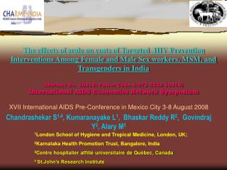 XVII International AIDS Pre-Conference in Mexico City 3-8 August 2008