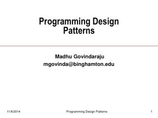 Programming Design Patterns