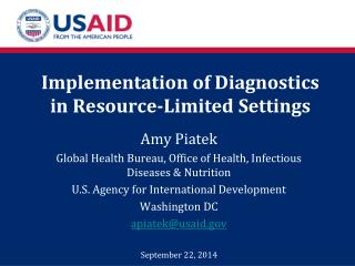 Implementation of Diagnostics in Resource-Limited Settings