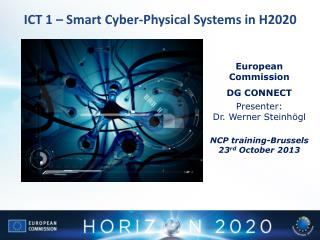 ICT  1 � Smart Cyber-Physical  S ystems in  H2020
