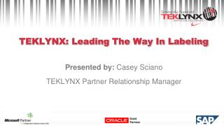 TEKLYNX: Leading  The Way In Labeling
