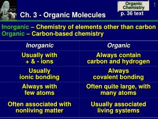 Ch. 3 - Organic Molecules