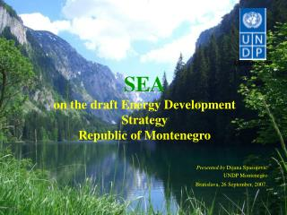 SEA on the draft Energy Development Strategy Republic of Montenegro