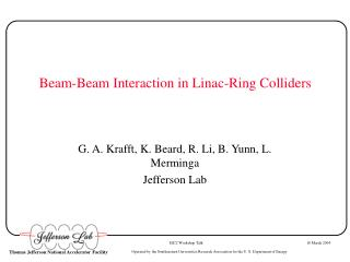Beam-Beam Interaction in Linac-Ring Colliders
