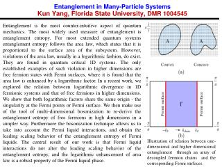 Entanglement in Many-Particle Systems Kun Yang, Florida State University,  DMR  1004545