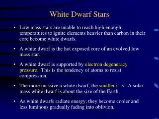White Dwarf Stars