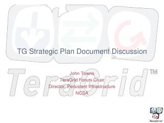 TG Strategic Plan Document Discussion
