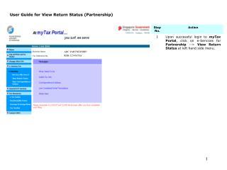 User Guide for View Return Status (Partnership)